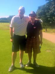 Junior Cup Captain Andrew Burns with Caddy Martin McCausland