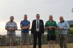 Dave Carr, Tony Hayden, Captain Andrew, Martin Mc Killop, Vincent O'Hara