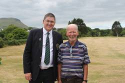 Mr Captain with Past President Colm Thompson