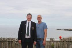Captain Andrew with David Burns