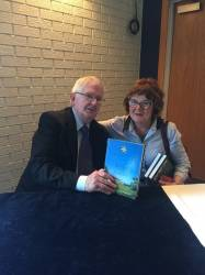 Author Denis O'Hara with Dr Brid Buckley
