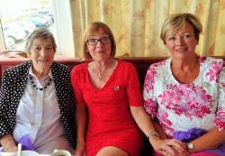 Lady Captain's afternoon tea 27/7/18. Betty Allen, Christine McSparran & Moira O'Neill