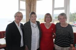 Lady Captain's Afternoon Tea -Lady Captain Eveleen, Past Captain Betty Allen, Chairperson Christine McSparran, Lady President Rosie
