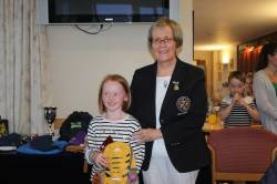 Girls 9 hole Runner up (Yellow markers) April Macaulay