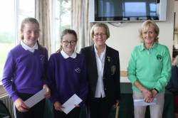 WINNERS - 9 HOLE - Ella Fox, C Morgan with Lady Captain and Fiona Delargy ILGU
