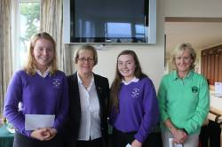 THIRD  - Molly Fox & Claire Stewart (Cushendall) with Fiona Delargy ILGU