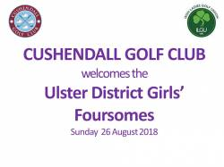 Cushendall host the ILGU Ulster District Girls' Foursomes