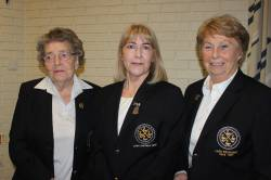 Lady President Rosemary 2016-2018, Lady Captain 2019 Derval and Lady President Deirdre 2019-2021