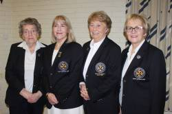 Lady President Rosemary 2016-2018, Lady Captain 2019 Derval and Lady President Deirdre 2019-2021, Lady Captain 2018 Eveleen