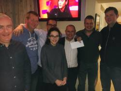 Charity Quiz winning team