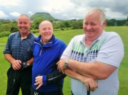 Dominic Harvey, Kevin McHugh and Brendan McNaughton All Ireland Fourball team 9/6/19