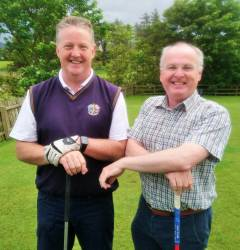 Philip Sharpe and Ali McQuillan All Ireland Fourball team 9/6/19