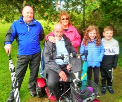 PJ & Emilie Maguire supporting the All Ireland Fourball team 9/6/19