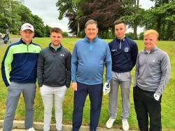 Senior Cup Team 26th May 2019 in Masserene. David Burns (Team Captain), Niall McNaughton, Andrew Burns, Christy McLaughlin & Ali McQuillan