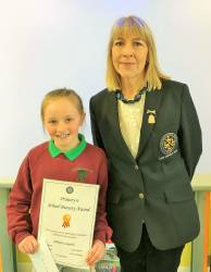 Aibrean Campbell - Glenann PS Cushendall with Lady Captain Derval