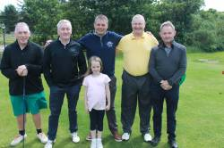 On the tee - Martin McCausland - Henry McAlister - Vidar Melby- Pat McToal