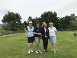 On the Tee: Siobhan O'Grady, Anne McNaughton, Rose Grant