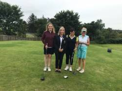 On the Tee: Tierna Elliot, Anne McDonnell, Fiona Delargy