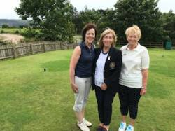 On the tee: Angela Mitchell, Deirdre Campbell