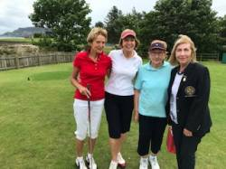 On the Tee: Colley McAlister, Dorothy McManus, Christine Blaney