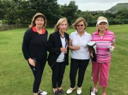 On the tee: Claire Marie Boggiano, Rosemary Aitkenhead, Bregeen Kelly