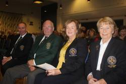 Front row seats for Captain Dominic, President Joe, Lady Captain Siobhán & Lady President Deirdre