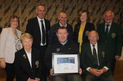 Rory Leonard - Confederation of Golf in Ireland (CGI) with club officials