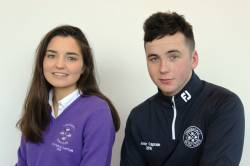 Junior Captains 2018 - Eimear Mullan and Christopher Mc Laughlin