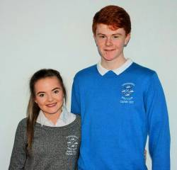 Junior Captains 2017 Anna Mc Quillan & Ronan Mc Cambridge