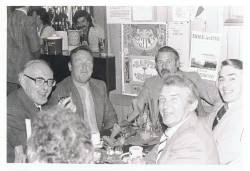 Frank O'Reilly, Brendan Macaulay, Joe O'Neill, Ray Rainey & Tim Boyle (at bar: Mary Dunlop & Nevin Davidson)