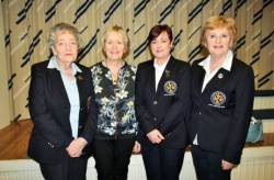 Lady President Rosemary Campbell, Lady Vice-Captain Eveleen McCurry, Lady Captain Anne McDonnell & 2016 Lady Captain Anne Miskelly