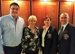Vice-Captain Andy Burns, Lady Vice-Captain Eveleen McCurry, Lady Captain Anne McDonnell & Captain Kevin McCann