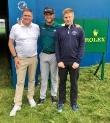 Andrew Burns, Jon Rahm & David Burns - Irish Open 2017