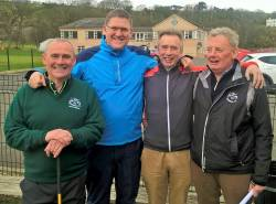 Captain Kevin McCann, Vice Captain Andy Burns, Hon Sec Hugh McManus & Team Captain Malachy Delargy
