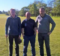Jimmy Bruen Qualifying Ballycastle 7/5/17: Donough McNaughton, Kevin McCann & Joe O'Neill