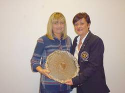 Carole Ward - Winner of Harvest Basket and Runner up in Lewis Trophy.