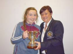 Claire Stewart - Winner of Hamill Trophy.