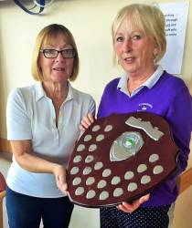 Lady Masters' Shield presented to overall winner Kate McAlister