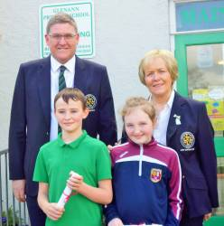 Glenann Primary School 2018 Bursary Winners: Caodhan Scullion and Ellen Grant