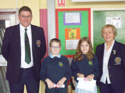St.Patrick's Primary School 2018 Bursary Winners: Charlie O'Neill and Orlaith Lynn