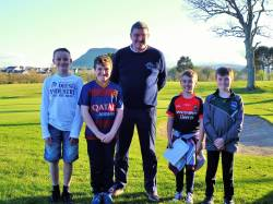 Caodhan Scullion, Liam Magee, Mr Captain Andrew Burns, Charlie McAlister and Calum Magee