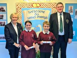 St Mary's PS Bursary Winners 2018 Éabha and Charlie