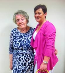 Lady President Rosemary Campbell with Lady Captain Anne McDonnell