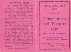 Competitions and Fixtures 1967