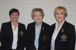 2017 Lady Captain Anne McDonnell, Lady President Rosemary Campbell & 2018 Lady Captain Eveleen McCurry