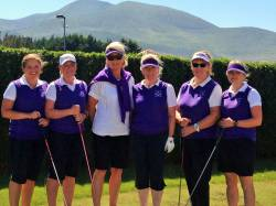 Ladies playing in the 2nd round of the Junior Foursomes on Sunday 3 June at Royal County Down