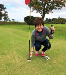Rosemary McAlister had a hole in one at the 5th on 28/9/18. Rosemary was playing in the final of 'The Dobbs Bowl' and beat Barbara McCann on the 18th green.