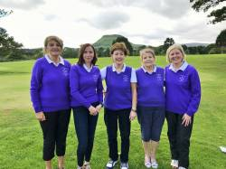 Ladies Coast and Country team 18/9/18 Colette O'Hagan, Orla O'Neill, Anne Harvey, Bernie Jamison and Frances Swail